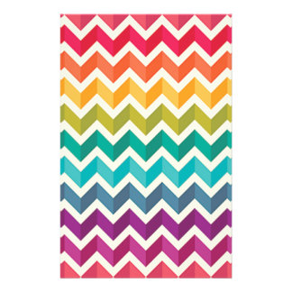 Beautiful Rainbow Chevron Stationery