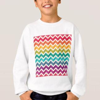 Beautiful Rainbow Chevron Sweatshirt