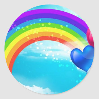 Beautiful Rainbow Classic Round Sticker