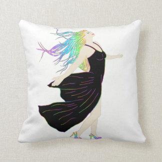 Beautiful Rainbow Goddess Cushion