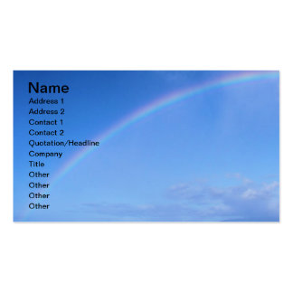 Beautiful Rainbow in Hawaii over the Pacific Ocean Double-Sided Standard Business Cards (Pack Of 100)