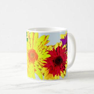 Beautiful Rainbow of Different Colors Sunflowers Coffee Mug