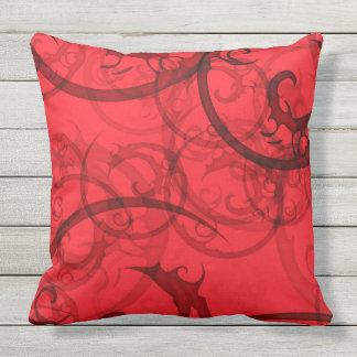 BEAUTIFUL RANDOM RED AND BLACK SWIRL Throw Cushion