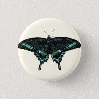 Beautiful realistic butterfly 3 cm round badge