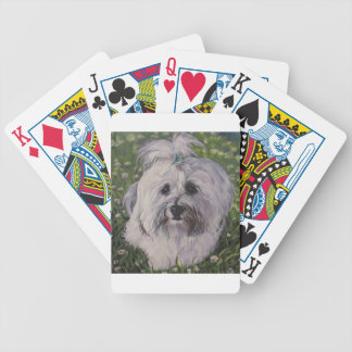 Beautiful Realistic Havanese Dog Art Painting Bicycle Playing Cards