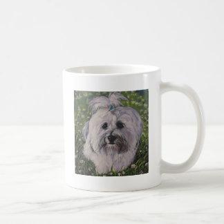 Beautiful Realistic Havanese Dog Art Painting Coffee Mug