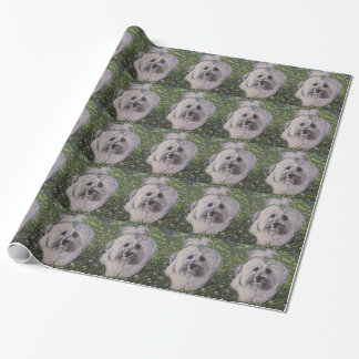 Beautiful Realistic Havanese Dog Art Painting Wrapping Paper