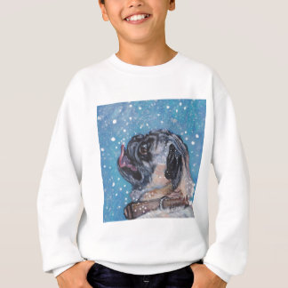 Beautiful Realistic Pug Dog Art Painting Sweatshirt
