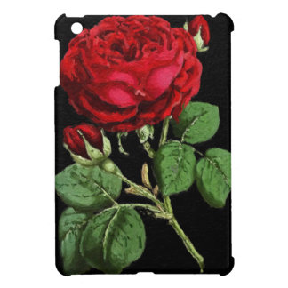 Beautiful Red Abstract Texture Rose Case For The iPad Mini