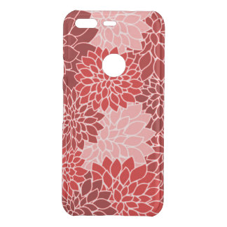Beautiful Red and Pink Dahlias Pattern Uncommon Google Pixel Case