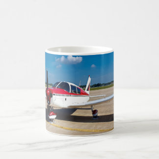 Beautiful Red and White Propeller Airplane Mug