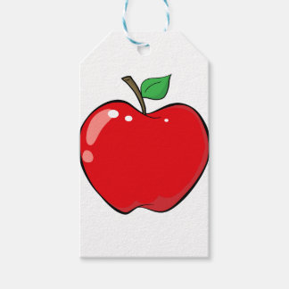 Beautiful Red Apple Fruit Gift Tags