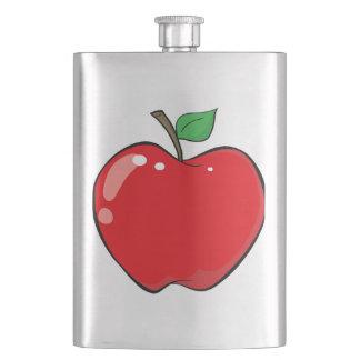Beautiful Red Apple Fruit Hip Flask