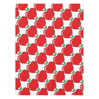 Beautiful Red Apple Fruit Tablecloth