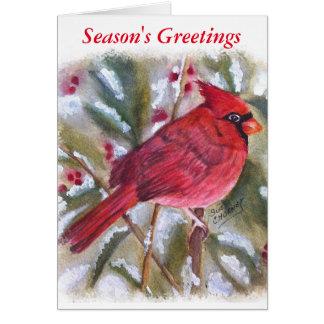 BEAUTIFUL RED CARDINAL CARD