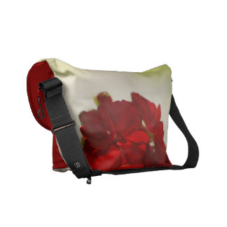 beautiful red floral messenger bag