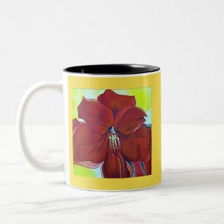Beautiful Red Flower Beverage Mug