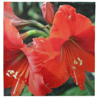 Beautiful Red Flower Photograph Napkin
