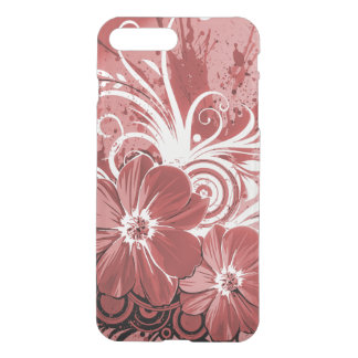 Beautiful red Flowers Swirl abstract vectror art iPhone 7 Plus Case
