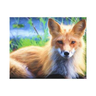 Beautiful Red Fox Canvas Print