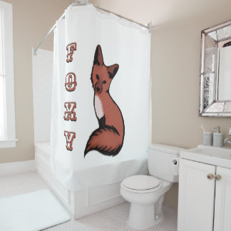 Beautiful Red Fox Shower Curtain