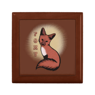 Beautiful Red Foxy Fox Gift Box