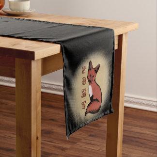 Beautiful Red Foxy Fox Medium Table Runner