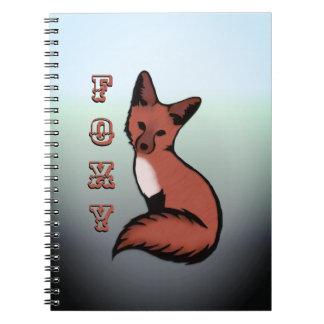 Beautiful Red Foxy Fox Notebook