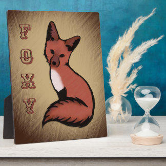Beautiful Red Foxy Fox Plaque