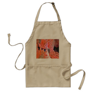 Beautiful red in a cave standard apron