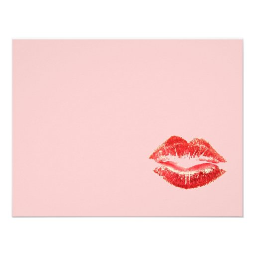 Beautiful Red Kiss Isolated Custom Invite