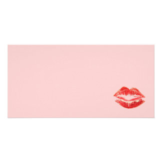 Beautiful Red Kiss Isolated Photo Cards