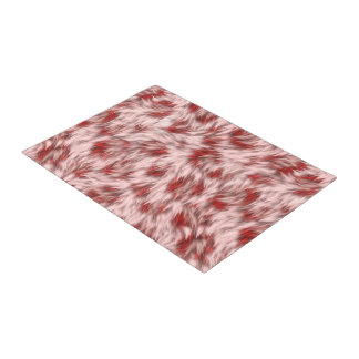 Beautiful Red & Pink Abstract Design Bath Mat