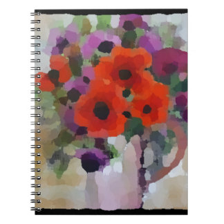 Beautiful Red Poppies Notebook