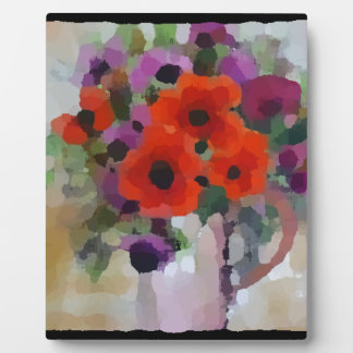 Beautiful Red Poppies Plaque