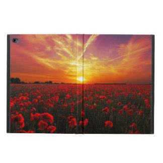 Beautiful red poppy flower field sunset powis iPad air 2 case