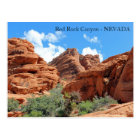 Beautiful Red Rock Canyon Postcard! Postcard