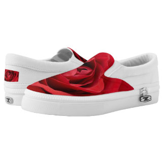 Beautiful Red Rose | Adorable Gifts Slip On Shoes