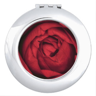 Beautiful Red Rose Blossom Travel Mirror