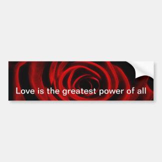 Beautiful red rose bumper sticker
