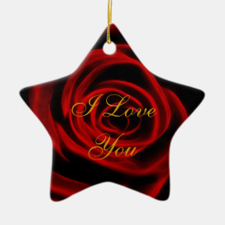 Beautiful red rose christmas ornaments
