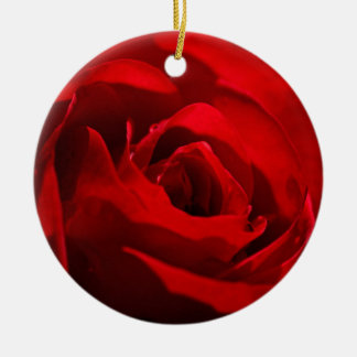 Beautiful red rose christmas tree ornaments