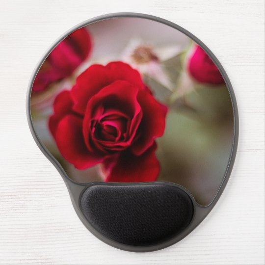 Beautiful red rose flowers gel mouse pad