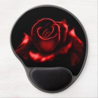 Beautiful Red Rose Gel Mouse Pad