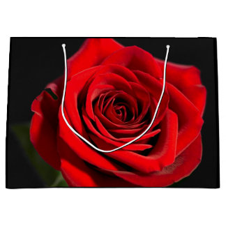 Beautiful red rose large gift bag