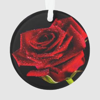 Beautiful red rose ornament