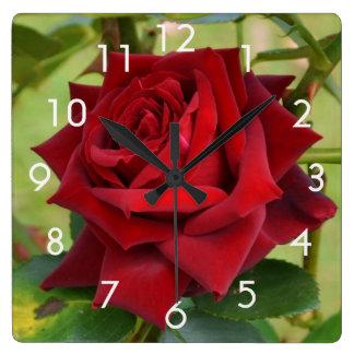 Beautiful Red Rose Wall Clock