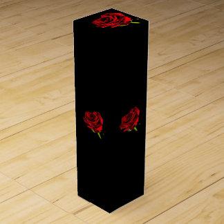 Beautiful red rose wine gift box