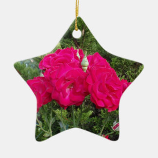 Beautiful Red Roses Christmas Ornaments