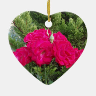Beautiful Red Roses Christmas Tree Ornament